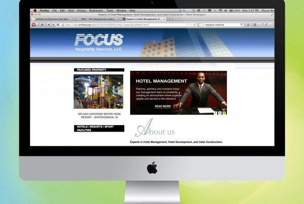 Focus Hotel Website Design