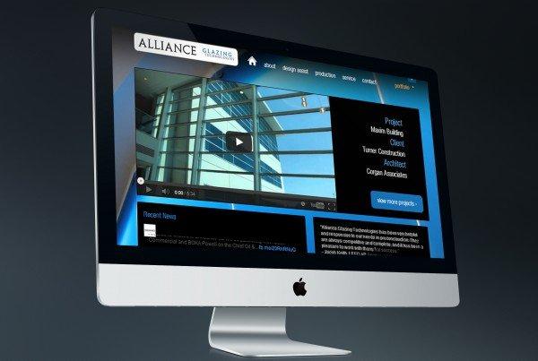 Alliance Glazing Website Design