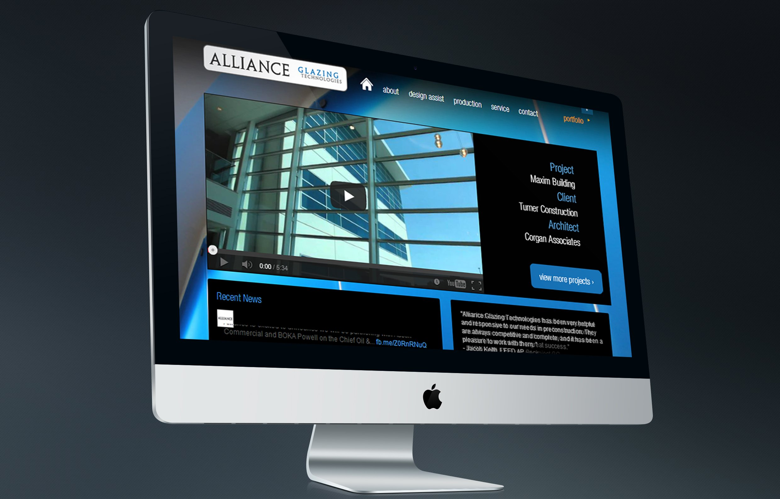 Alliance Glazing Website Design