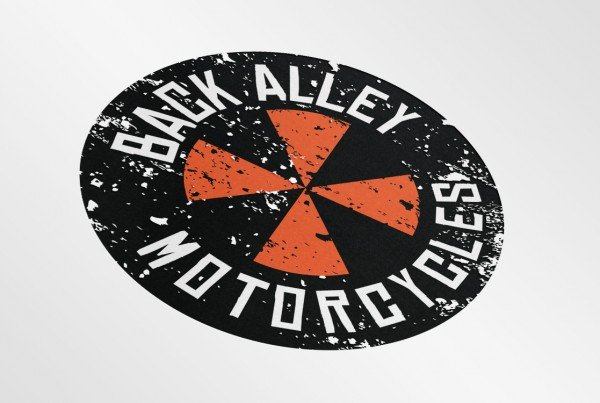 Back Alley Motorcycles Logo Design