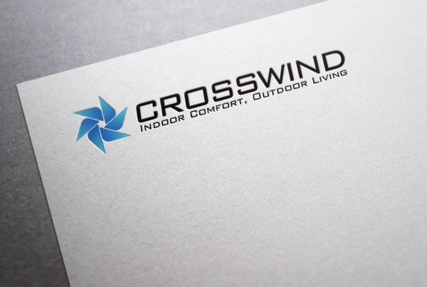 Cross Wind Logo Design