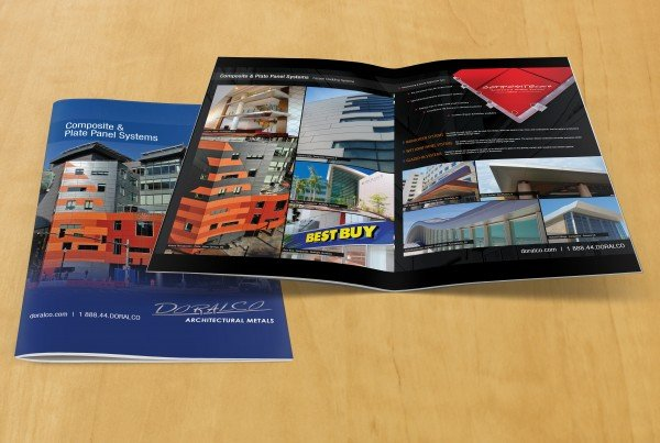 doralco composite and plate panel brochure-design