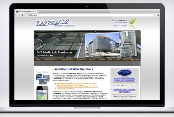 Doralco Website 02 600x403 IdeaSeat Chicago Marketing & Website Design Company