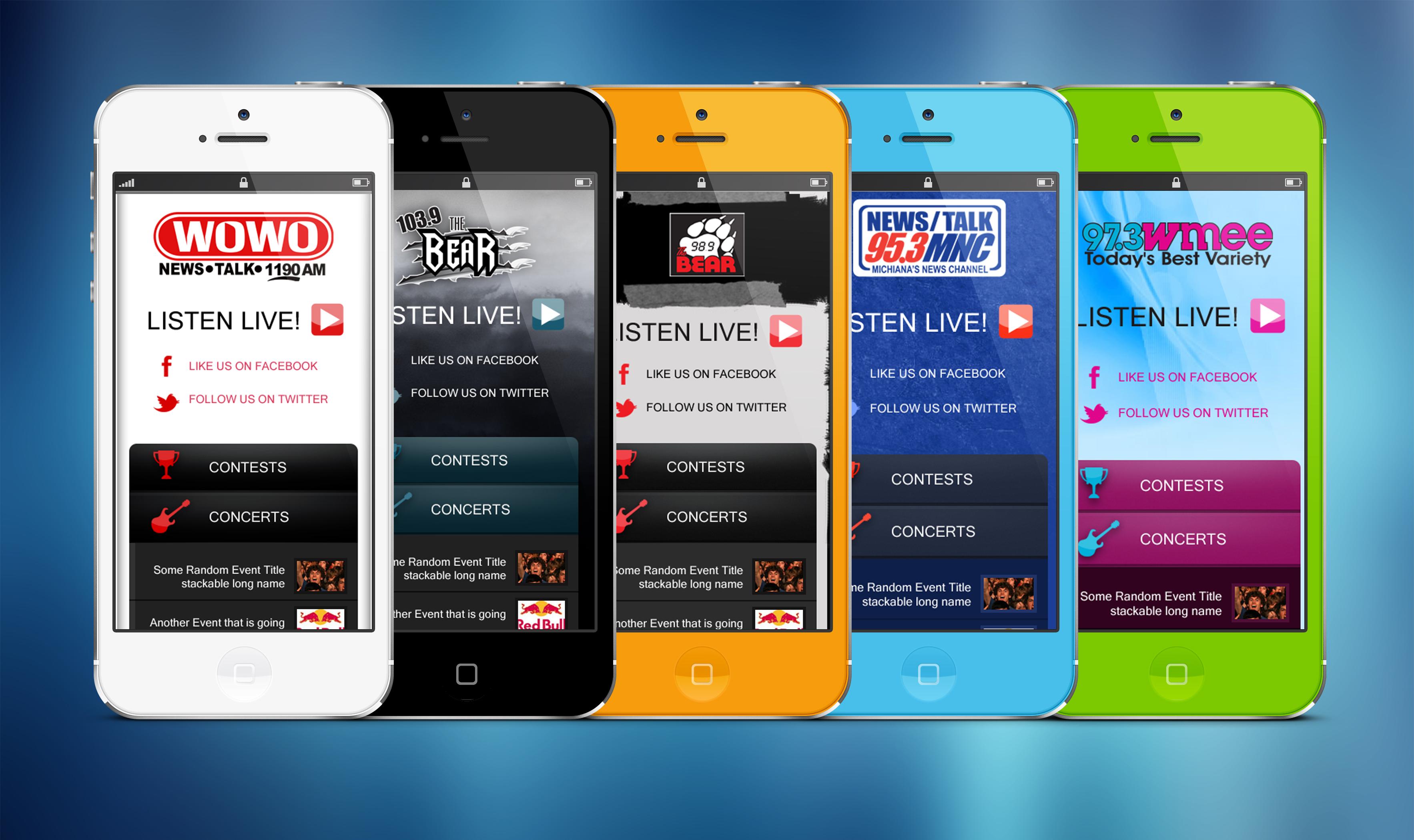 Federated Media Radio Stations Mobile Websites