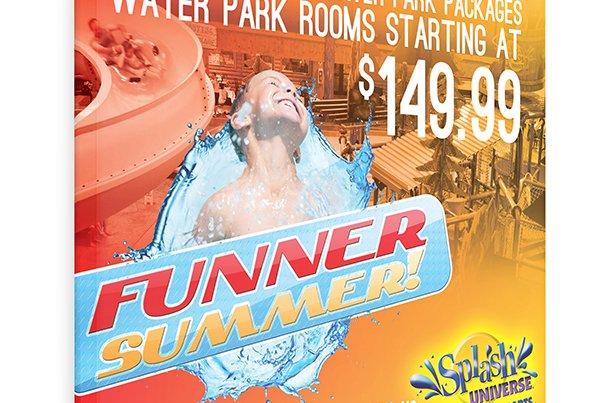 Splash Universe Funner Summer Flyer Design