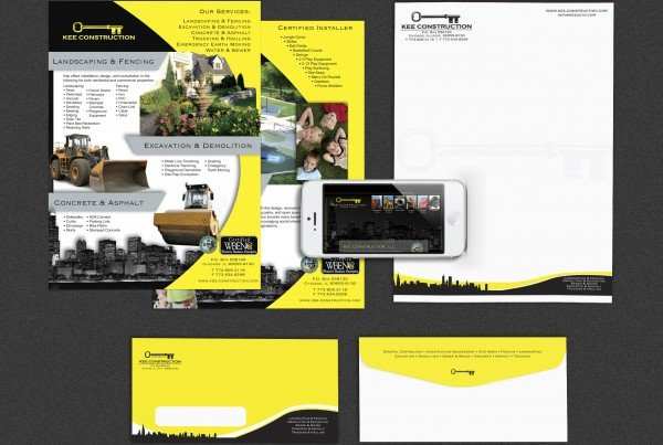 Kee Construction Stationary 600x403 IdeaSeat Chicago Marketing & Website Design Company