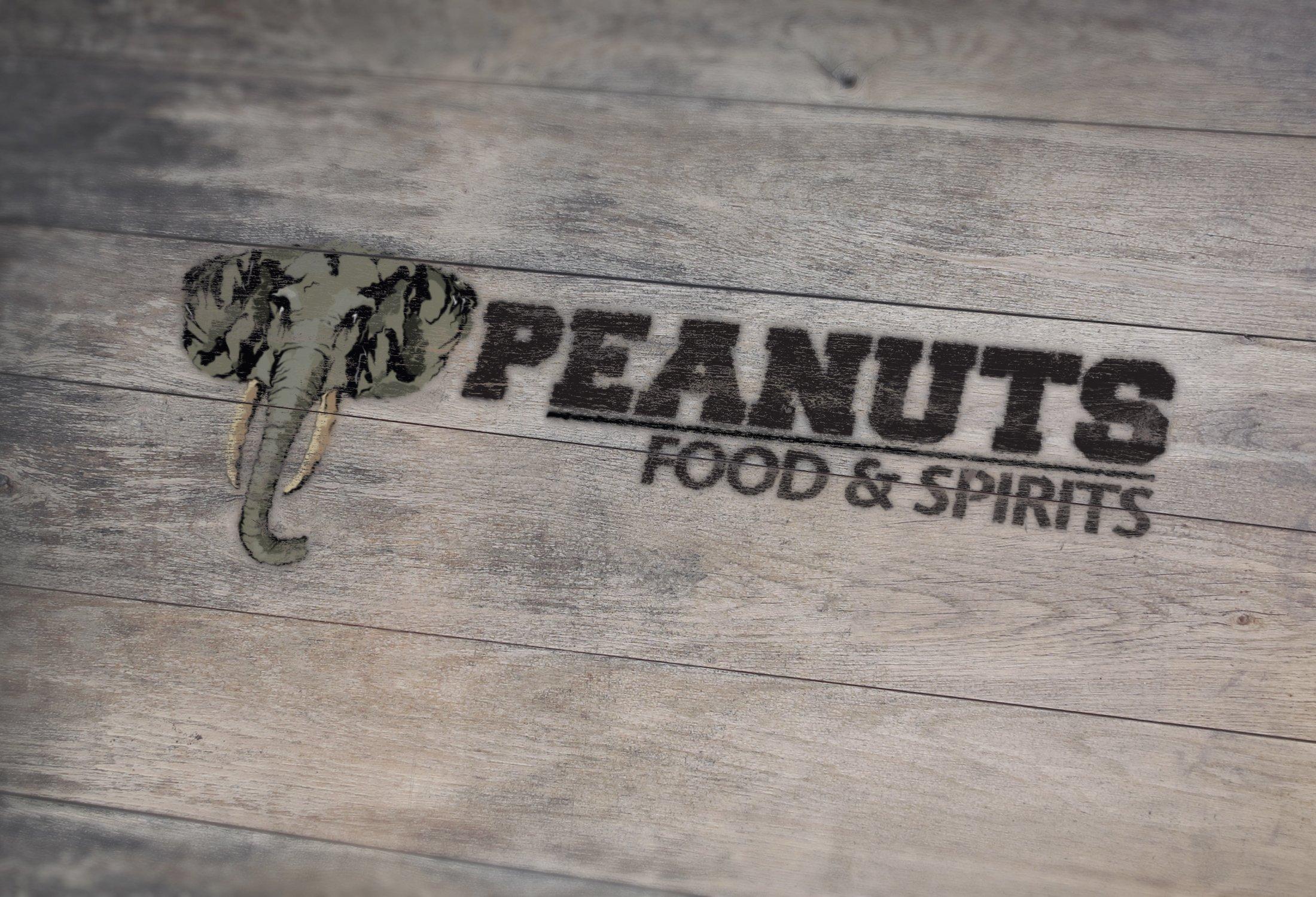 Peanuts Food and Spirits Logo Design