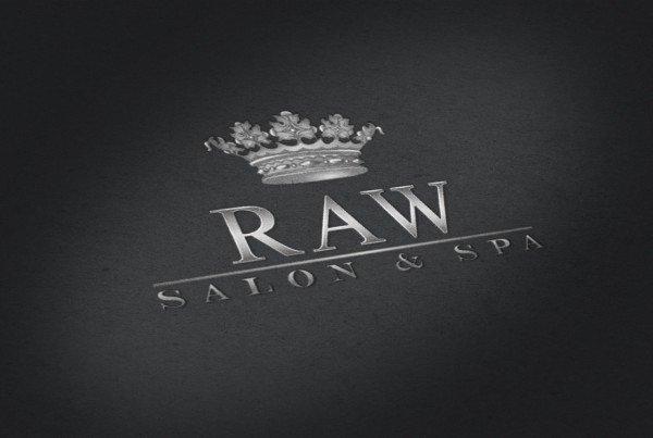 Raw Salon Spa Logo Design