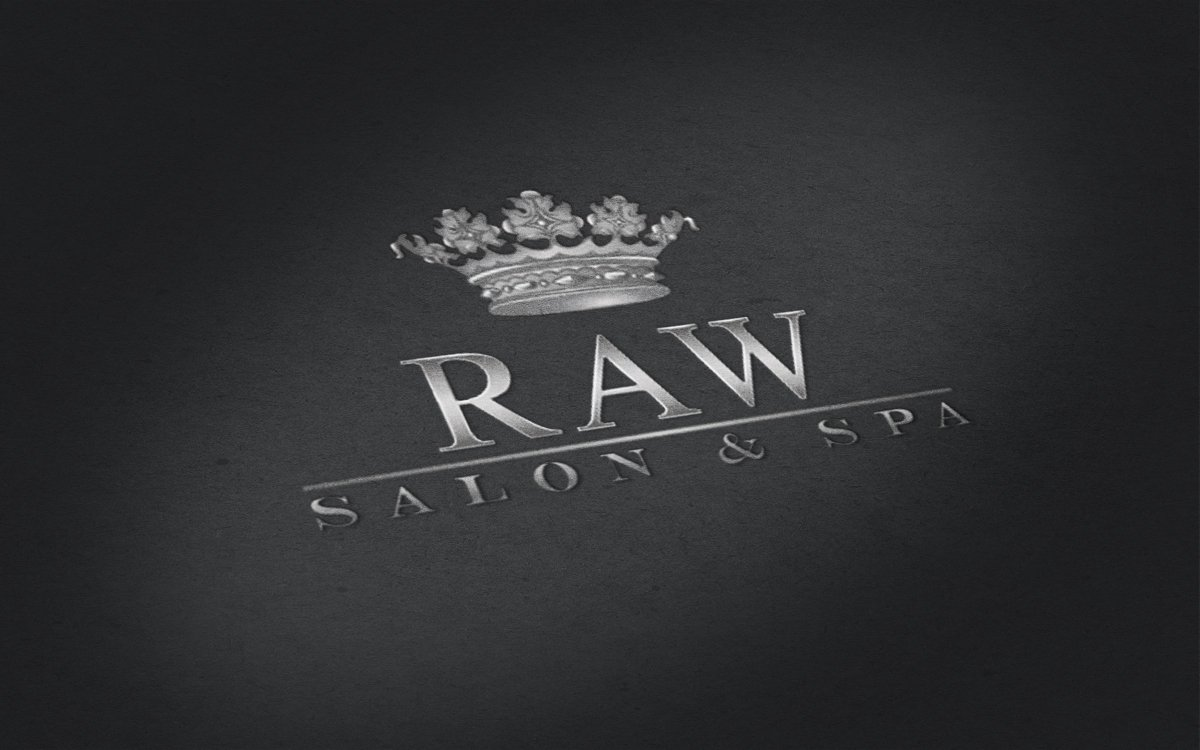 Raw Salon Spa Logo Design