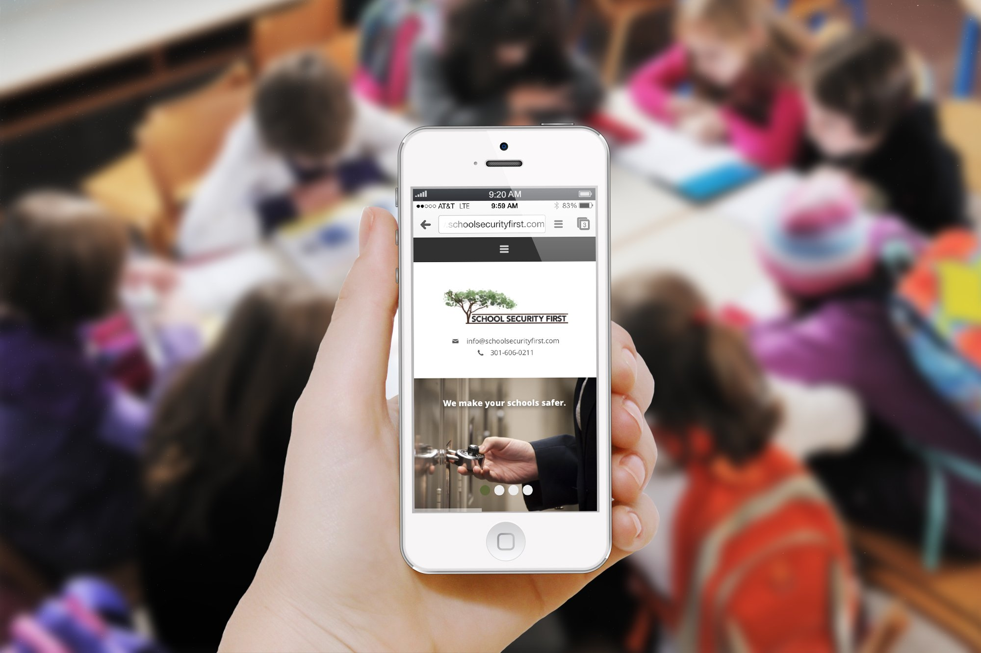 School Security First Mobile Website