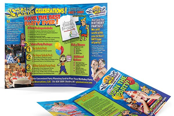 Splash Universe Birthday Brochure Design