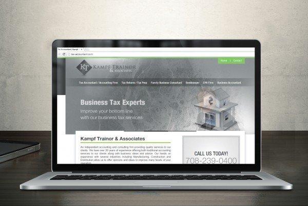 Tax Accountant Website Design