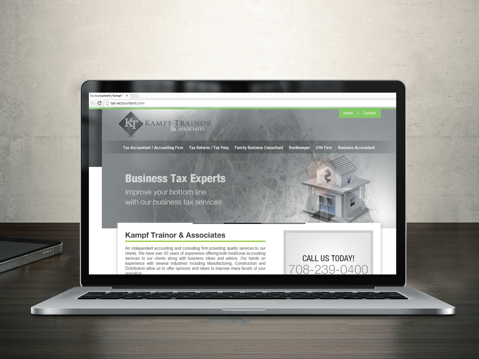 Tax Accountant Website Design
