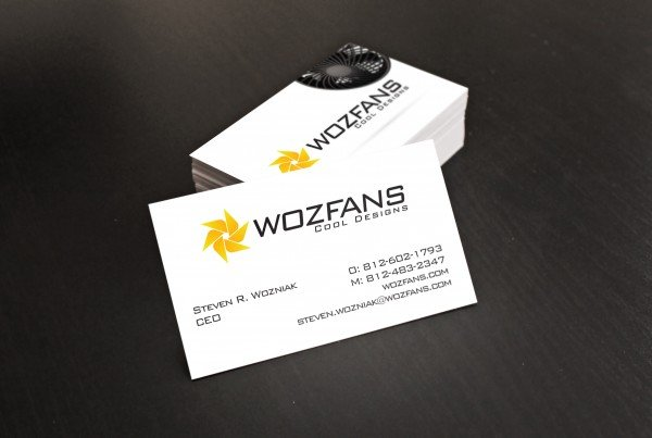 Woz Fans Business Card Design