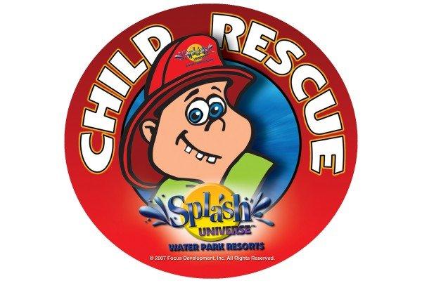 splash universe child-rescue logo and safety decal design